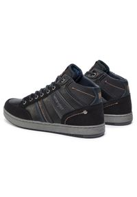 Czarne sneakersy Wrangler z cholewką