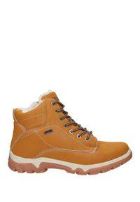 Casu - Camelowe buty trekkingowe sznurowane casu a260-2. Kolor: brązowy