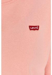 Różowa bluza Levi's® biznesowa, bez kaptura, gładkie