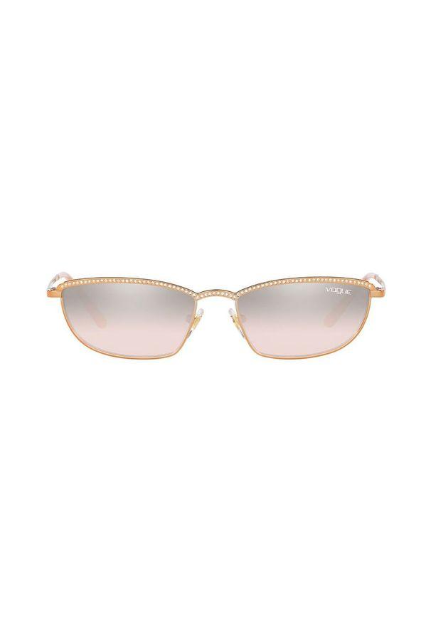 Czarne okulary przeciwsłoneczne Vogue Eyewear prostokątne