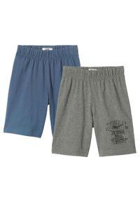 Niebieskie spodnie bonprix melanż, krótkie