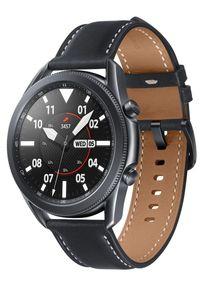 SAMSUNG - Samsung Galaxy Watch 3 (45 mm) Black. Kolor: czarny. Materiał: skóra. Styl: sportowy, militarny