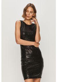 Czarna sukienka Liu Jo bez rękawów, mini, dopasowana