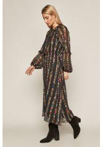 medicine - Medicine - Sukienka Intenso. Kolor: czarny. Materiał: tkanina. Długość rękawa: długi rękaw
