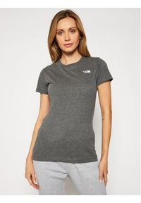 The North Face T-Shirt Graphic NF0A4T1CDYY1 Szary Regular Fit. Kolor: szary