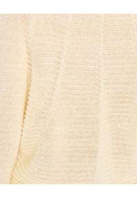 CAPPELLINI - Żółty sweter z lnu. Okazja: na co dzień, do pracy. Kolor: żółty. Materiał: len. Długość rękawa: długi rękaw. Długość: długie. Styl: casual