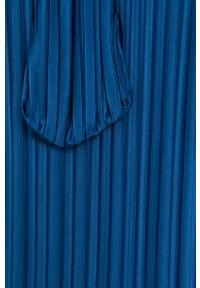 DKNY - Dkny - Sukienka. Kolor: niebieski. Materiał: tkanina. Typ sukienki: plisowane, rozkloszowane