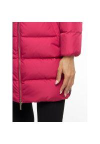 Różowy płaszcz zimowy Armani Exchange