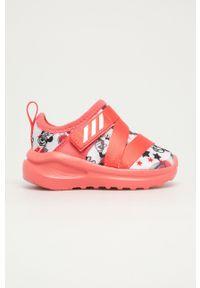 Różowe buty sportowe adidas Performance na rzepy, z nadrukiem, z cholewką