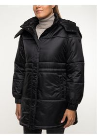 Czarna kurtka puchowa Emporio Armani na zimę