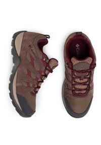 Brązowe buty trekkingowe columbia z cholewką