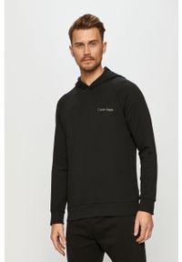 Czarna bluza nierozpinana Calvin Klein Underwear na co dzień, casualowa, z kapturem, raglanowy rękaw