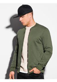 Brązowa bluza Ombre Clothing sportowa, bez kaptura