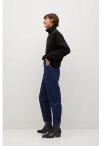Turkusowe jeansy loose fit mango