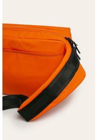Pomarańczowa torba Diesel z nadrukiem, casualowa