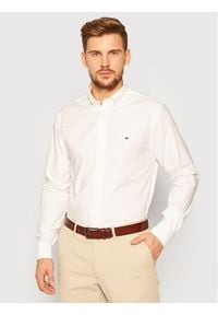 TOMMY HILFIGER - Tommy Hilfiger Koszula Flex Refinded Oxford MW0MW15000 Biały Regular Fit. Kolor: biały