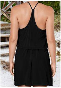 Sukienka plażowa z przyjaznego dla środowiska materiału bonprix czarny. Okazja: na plażę. Kolor: czarny. Materiał: materiał