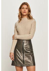MAX&Co. - Sweter. Okazja: na co dzień. Kolor: beżowy. Materiał: dzianina, materiał. Długość rękawa: długi rękaw. Długość: długie. Styl: casual