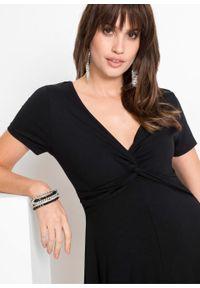 Sukienka z dżerseju bonprix czarny. Kolor: czarny. Materiał: jersey
