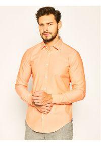 Pomarańczowa koszula casual BOSS