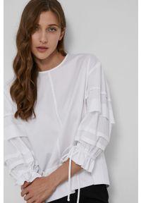 Victoria Victoria Beckham - Bluzka bawełniana. Kolor: biały. Materiał: bawełna