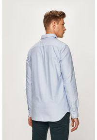 Niebieska koszula Jack & Jones na co dzień, button down, casualowa