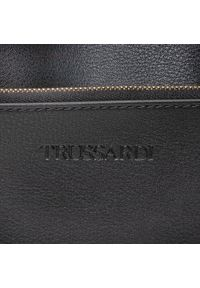 Czarna torebka klasyczna Trussardi Jeans skórzana, klasyczna