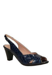 Niebieskie sandały Pitillos w kolorowe wzory, casualowe, na co dzień