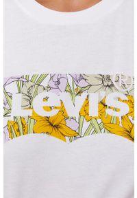 Levi's® - Levi's - T-shirt bawełniany. Okazja: na co dzień, na spotkanie biznesowe. Kolor: biały. Materiał: bawełna. Wzór: nadruk. Styl: biznesowy, casual
