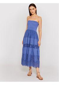 Niebieska sukienka letnia