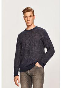 Niebieski sweter Only & Sons z okrągłym kołnierzem