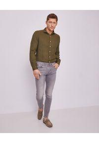 FAY - Zielona koszula z lnu. Kolor: zielony. Materiał: len. Długość rękawa: długi rękaw. Długość: długie. Wzór: aplikacja. Styl: wakacyjny #6