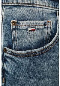 Niebieskie jeansy loose fit Tommy Jeans z aplikacjami
