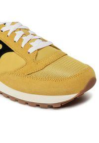 Żółte buty sportowe Saucony na co dzień, z cholewką