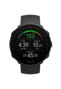 Czarny zegarek POLAR cyfrowy, sportowy