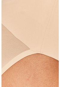 Spanx - Figi modelujące. Kolor: beżowy. Materiał: tkanina, materiał. Wzór: gładki