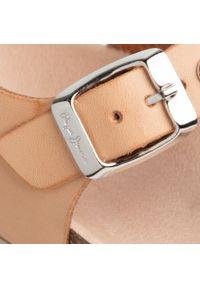 Beżowe sandały Pepe Jeans z aplikacjami