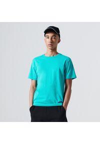 Cropp - Koszulka basic - Turkusowy. Kolor: turkusowy