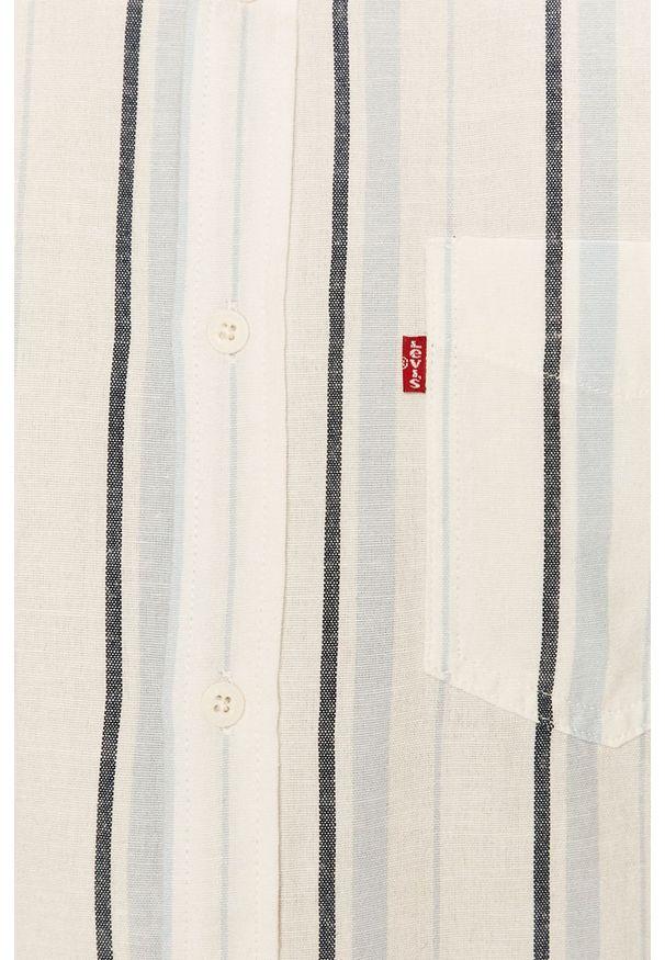 Biała koszula Levi's® w kolorowe wzory, krótka