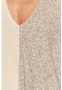 Biały sweter MAX&Co. z długim rękawem, długi