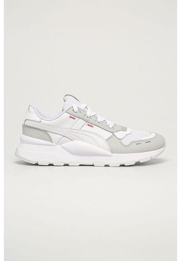 Białe sneakersy Puma na sznurówki, z cholewką, z okrągłym noskiem