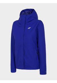 Niebieska kurtka przeciwdeszczowa 4f z kapturem