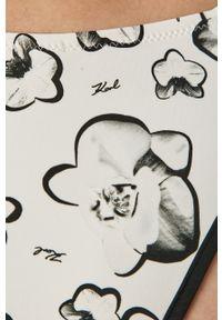 Biały strój kąpielowy dwuczęściowy Karl Lagerfeld