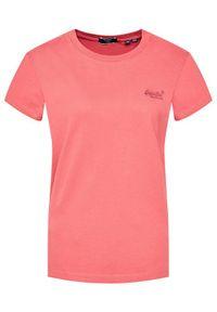 Superdry T-Shirt Classic W1010519A Różowy Relaxed Fit. Kolor: różowy