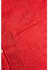 Czerwona koszula medicine na co dzień, krótka, ze stójką