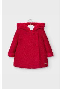Czerwony płaszcz Mayoral casualowy, z kapturem, na co dzień