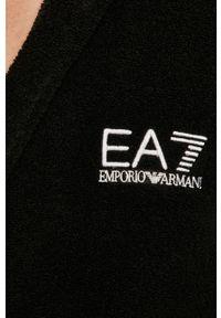EA7 Emporio Armani - Szlafrok. Typ kołnierza: kaptur. Kolor: czarny