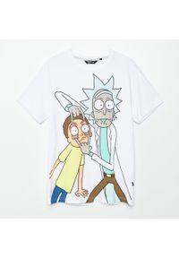 Cropp - Koszulka z nadrukiem Rick and Morty - Biały. Kolor: biały. Wzór: nadruk