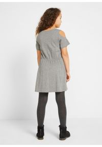 Szara sukienka bonprix melanż, elegancka