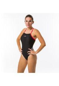 NABAIJI - Strój Jednoczęściowy Pływacki Lexa Xp Damski. Kolor: wielokolorowy, czerwony, różowy, czarny. Materiał: poliamid, materiał, poliester